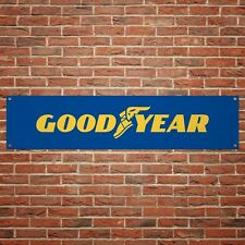 Goodyear Tyres Banner Garage Workshop PVC Sign Trackside Car Display Tires