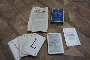 Vintage Waddingtons Lexicon Card Game Blue Box Complete & Instructions 1930s 40s