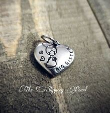 Big Sister Charm Big Sister Pendant Word Charm Sisters Charm Stainless Steel