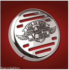 Show Chrome V-Twin Horn Cover - Yamaha V-Star 650 1100 Classic Custom Silverado