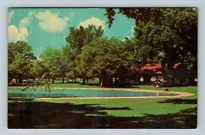 Janesville WI-Wisconsin, Palmer Park, Chrome Postcard