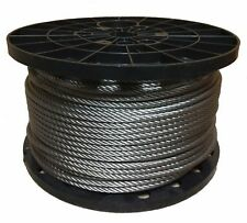 "1/8"" Stainless Steel Aircraft Cable Wire Rope 7x19 Type 304 (100 Feet)"