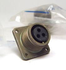 2x VEAM / Cannon Buchse, 3-polig, 14S-7, MIL Spec mit Montage-Flansch