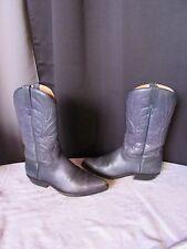 bottes  santiags vidal cuir bleu grisé pointure 8