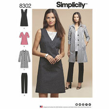 Simplicity Sewing Pattern 8302 AA Misses'/Women's Dress Tunic Pants Coat New