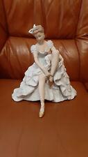 Wallendorf Porzellanfigur Ballerina Tänzerin -Ballerina Schuhe bindend -25 cm -