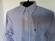 POLO RALPH LAUREN MEN'S PURPLE STRIPED L/S BUTTON DOWN DRESS SHIRT Sz 15 1/2 NWT