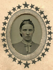 CIVIL WAR ERA TINTYPE PHOTO PORTRAIT OF A YOUNG WOMAN
