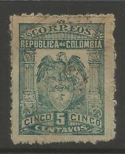 TIMBRES DE GUERRE 1000 jours. 1902. 5c vert foncé,Broche Perf. SG: 195B.