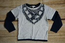 Gucci Toddler Boys' Navy Blue White Long Sleeve Shirt Top Size 4 Years Old