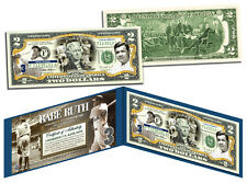 BABE RUTH *New York Yankees* Legal Tender U.S. $2 Bill *OFFICIALLY LICENSED*