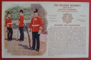 GALE & POLDEN HISTORY & TRADITIONS MILITARY Postcard c.1905 CHESHIRE REGIMENT