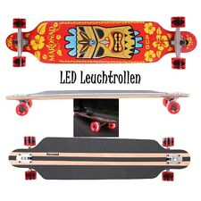 MARONAD ® Longboard DROP THROUGH Skateboard ABEC 11 LED Rollen Leuchtrollen HAWI