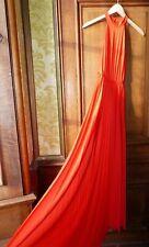 ASOS Size 10 Orange High Neck Pleated Sleeveless Maxi Dress BNWT