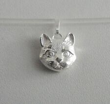Anhänger Katze Kätzchen Kater Katzen Schmuck Mieze Haustier Silber 925/-