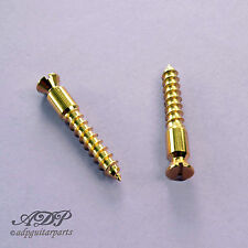 2x VIS PIVOTS FLOYD ROSE® Tremolo GOLD SCREWS fits Original SCHALLER FRBMWSSGP
