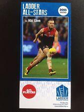 2015 Ladder AFL All Star Card Max Gawn Melbourne Demons