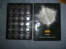 More details for a full set of  silver coloured medallionzs  coins star wars  r.o.t.s in a folder