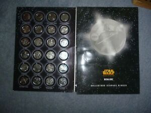 A FULL SET OF  SILVER COLOURED MEDALLIONZS  COINS STAR WARS  R.O.T.S IN A FOLDER