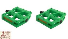 """BLACK OPS T-BAR NYLON GREEN 9/16"""" BICYCLE PEDALS"""