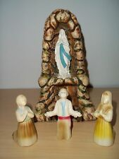 Vintage Our Lady of Lourdes Statue in Grotto Portugal - Lucia Janita Francisco