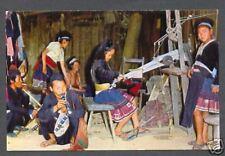 Meo Girls Hand-Loom weaving Chiengmai Thailand 60s