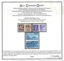 ** Italia 1942 Regno: PROPAGANDA GUERRA  [3v; Non Emessi] € 1.750 Certificato