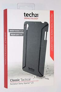 New OEM Tech21 Classic Tactical Case Sony Xperia Z3 Black +free screen protector