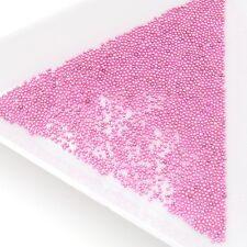 Pink 20g Caviar 0.6-0.8 MM Glass Micro Beads Balls Dots Nail Art Decoration Gels