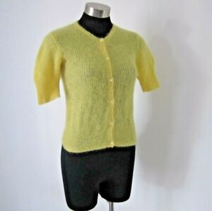 NEW! Cue Yellow Mohair Blend Cardigan Size S