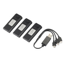 3pcs 3.7V 900mAh Battery+3in1 Charger for VISUO XS809 RC Quadcopter Drone BC712