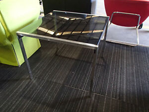 Bronzed Glass Top Square Coffee Table 34866