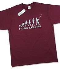 Fishing Evolution Fathers Day Birthday Present Gift Funny Hobby Mens T Shirt L