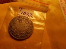 Canada 1912 25 Cent Rare Silver Coin ID#T1033.