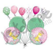 10 pc Baby Girl Animals Balloon Bouquet Decoration Safari Jungle Zoo Shower
