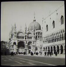 Glass Magic Lantern Slide VENICE . THE DOGES PALACE DATED MARCH 1904 PHOTO ITALY