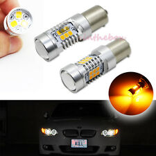 2x Error Free Amber 7507 LED Bulbs Fit BMW 1 3 4 Series X3 X5 Turn Signal Lights