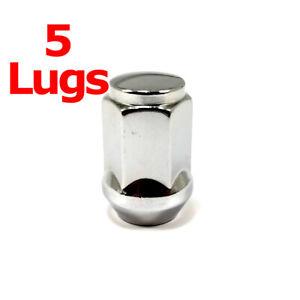 """5x Excalibur 1907 Lug Nuts 12x1.50 Bulge Acorn 3/4"""" Hex Chrome Closed End"""