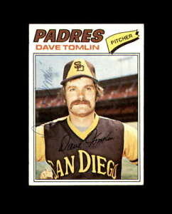 Dave Tomlin Hand Signed 1977 Topps San Diego Padres Autograph