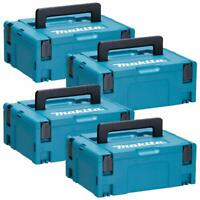 Makita 821550-0 MakPac Type 2 Connector Case 396mm x 296mm x 157mm Pack of 4