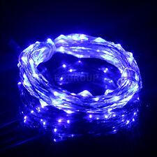 5M/10M/20M/30M/50M Silver/Copper Wire Fairy String Lights Lamp DC /Remote/Power