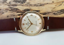VINTAGE 1965 SOLID 9K GOLD OMEGA SEAMASTER SILVER DIAL AUTO CAL:552 MAN'S WATCH