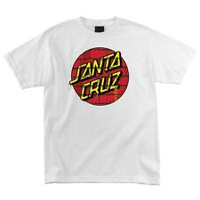 Santa Cruz Tagged Dot Skateboard T Shirt White Xl