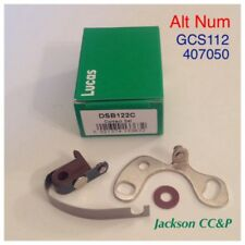 Lucas DSB122C Contact Points 407050, GCS112 JAGUAR, ASTON MARTIN, MG 45-55