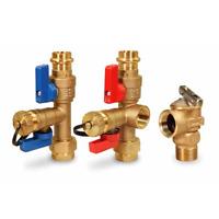 "PRESS 3/4"" Tankless Water Heater Isolation Valve Kit, Navien,Takagi, Rheem,Bosch"