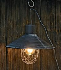 New Primitive Farmhouse Industrial CHICKEN WIRE PENDANT LIGHT Hanging Lamp Shade