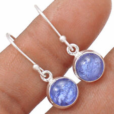Tanzanite Cabochons Crystal 925 Sterling Silver Earrings Jewellery