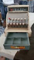 1950s Vintage Tom Thumb toy cash register RARE COLOR COMBO!