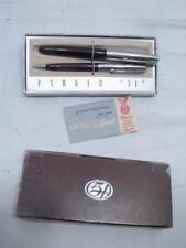 """Vintage Parker """"51"""" Special Fountain Pen & Pencil Set w/Box"""
