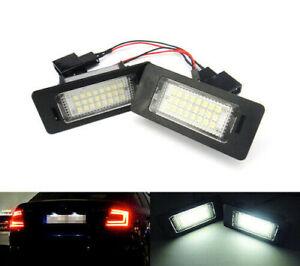 2X LED Licence Number Plate Light No Error For Skoda Fabia Octavia Rapid Superb